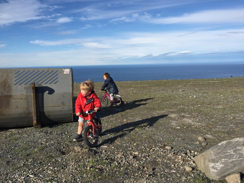 Cycling about as far north as possible on the European continent