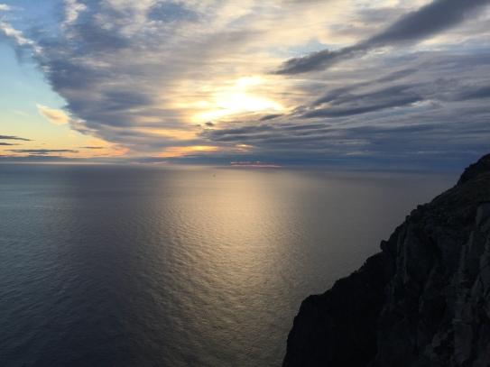 Nordkapp at solar midnight